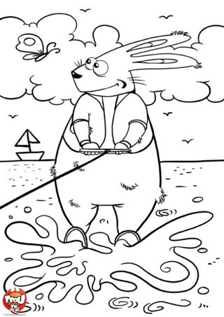 Coloriage: Ski nautique
