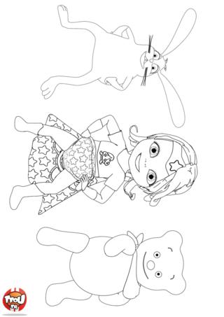 Coloriage: Super Bébé Lilly et ses copains