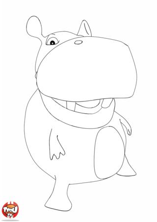 Coloriage: Hippo dance