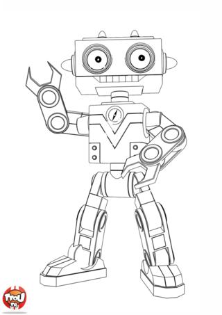 Coloriage: Copain robot de Bébé Lilly