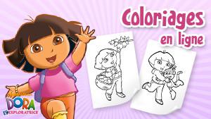 Coloriage en ligne Dora