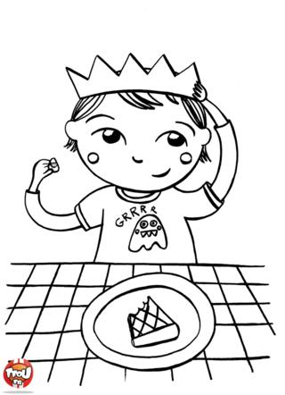 Coloriage: Le petit roi