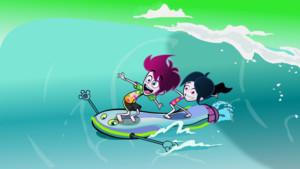 Fred et Jenny surfent