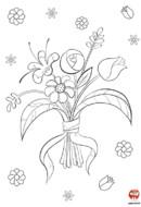 Coloriage-Fleur-Le bouquet de printemps