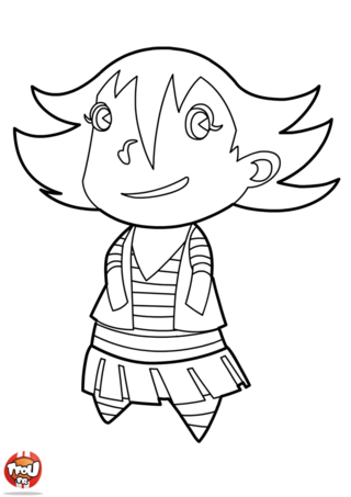 Coloriage: Avatar Fille
