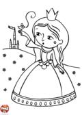 Princesse, oiseau et château