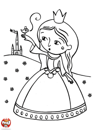Coloriage chateau princesse quotes for Image chateau princesse