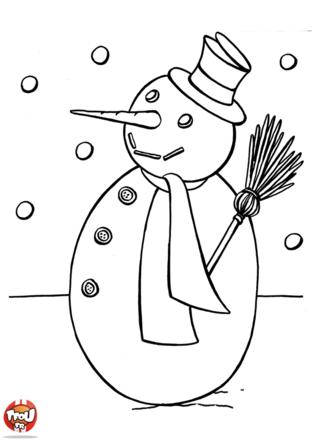 Les enfants font plein de bonhommes de neige pour occuper leur vacances de février. Tu peux aussi faire des coloriages hiver sur TFou.fr. Imprime-les vite gratuitement.
