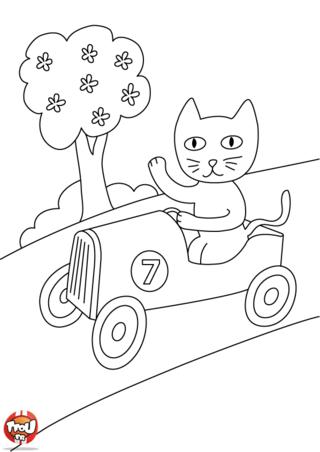 Coloriage: Chat numéro 7