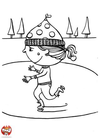 Sophie adore faire du patin à glace tous les hivers. Elle profite de ses vacances de février pour patiner. Imprime ce coloriage pour les vacances de février sur TFou.fr.