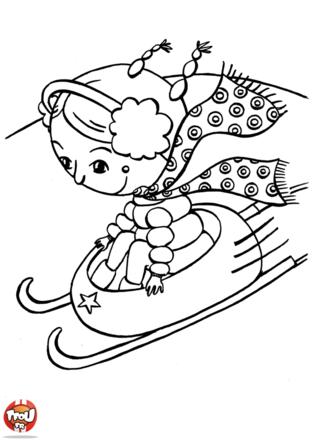 Léa est fan de luge. Toutes les vacances de février, elle prend sa luge et dévale les pistes. Toi aussi, imprime plein de coloriages d'hiver sur TFou.fr.