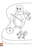 Pingouin pêche