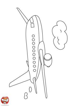 Coloriage: Avion long trajet