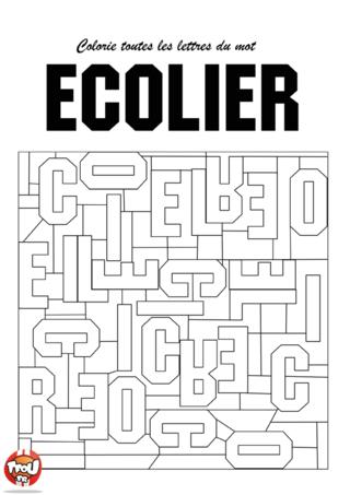 Coloriage: Ecolier