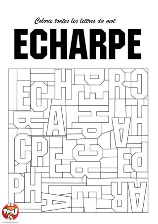 Coloriage: Echarpe