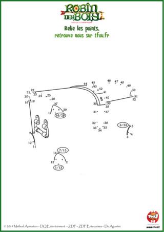 Chez TFou.fr, nous savons bien que le plus précieux objet du Prince Jean, c'est son coffre ! Il adddddooorrree son coffre, surtout quand il est rempli d'or. Toi aussi tu aimerais avoir un coffre pour y mettre ce que tu veux ? Imprime ce coloriage gratuit pour enfants de la série Robin des Bois sur TFou.fr et dessine-toi un super coffre. Tu as juste à prendre un crayon de papier ou un stylo et à relier les points dans l'ordre. A toi le super coffre, en plus c'est cool, tu peux le personnaliser avec les couleurs de ton choix !