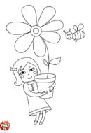 Une grosse fleur pour maman
