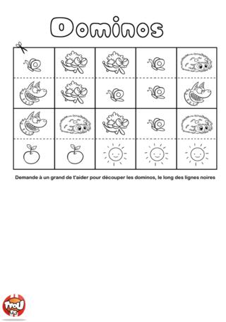 Coloriage: Jeu de domino 2