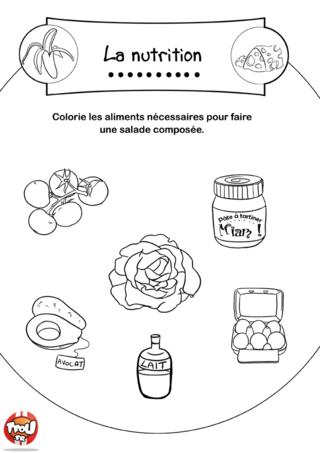 Coloriage: Ingrédients salade
