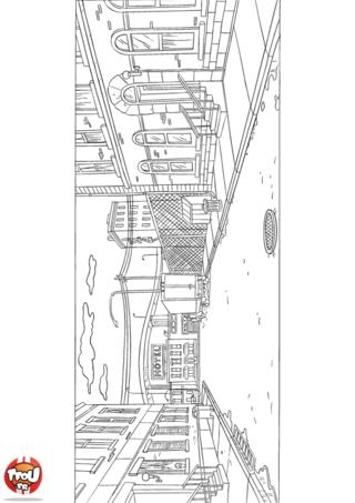 Coloriage: La rue 3