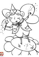 Elfe sur une fleur