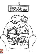 Frère et soeur font la lecture