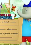 Carte d'invitation Babar et Badou