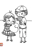 Le frère qui taquine sa soeur