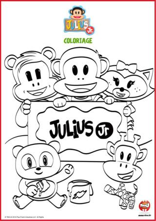 Coloriage : La bande de Julius Jr
