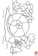 L'escargot et les fleurs