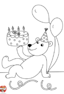 L'ours et son gâteau