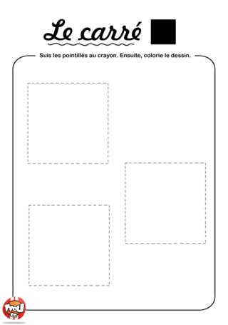 Coloriage: Relie les carrés