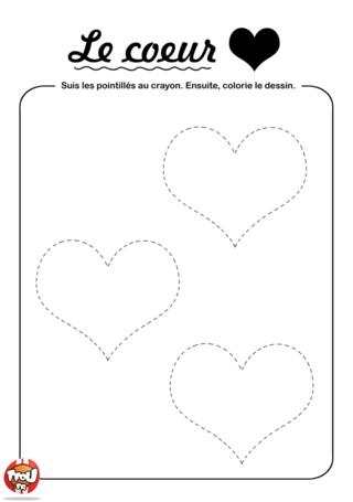 Coloriage: Relie les coeurs