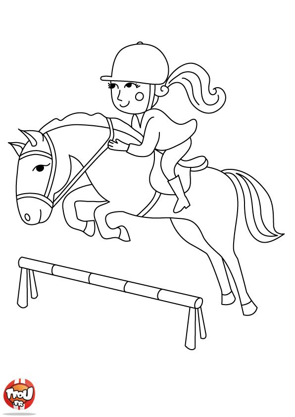 Pin coloriage cheval saut obstacle a imprimer gratuit on pinterest - Coloriage cheval qui saute ...