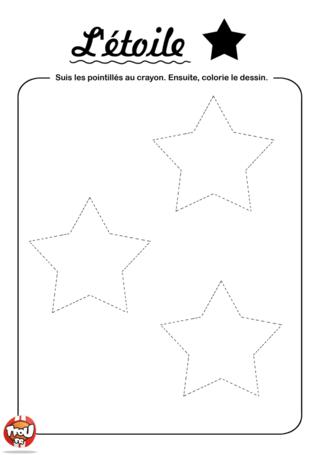 Coloriage: Relie les étoiles