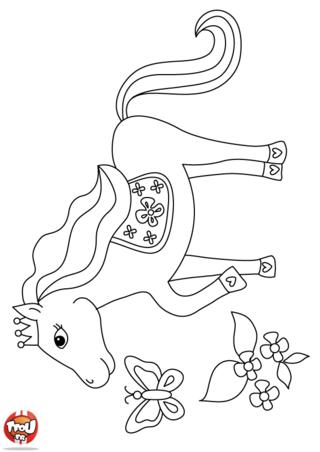 Coloriage: Le prince des chevaux