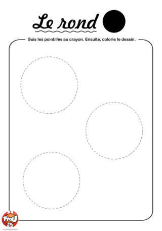Coloriage: Relie les ronds