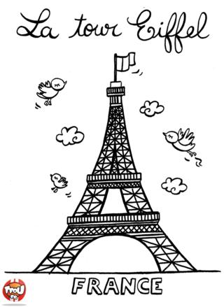 Coloriage: La Tour Eiffel