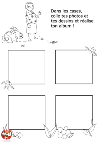 Coloriage: Album photo-page1