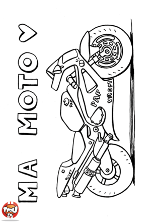 Coloriage: Ma Moto