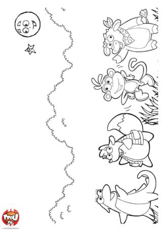 Coloriage: Babouche et ses amis