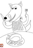 Loup passe à table