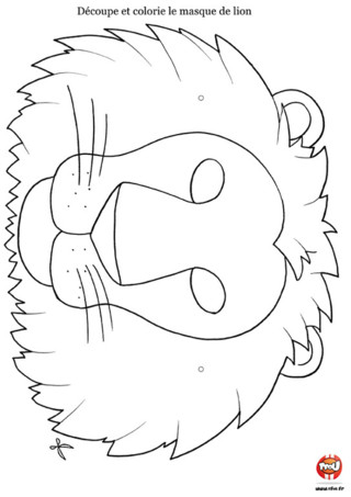 Activité : Masque de lion. Tu as envie de rugir comme le lion ? Imprime vite ton masque de lion, colorie-le, découpe-le et colle le sur un support en carton et c'est à toi de jouer ! Entraine toi vite à faire ton plus beau rugissement !