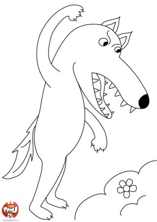 Coloriage: Méchant loup
