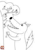 Loup cueille des cerises