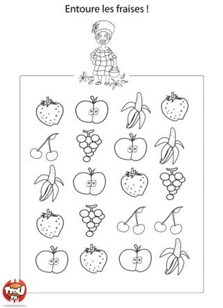 Coloriage: Les fraises