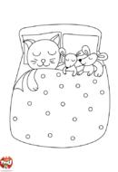 Les souris dans le lit