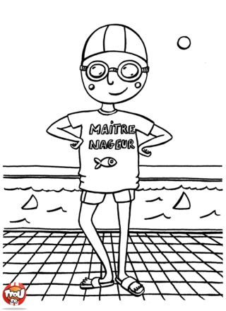 Coloriage: Maître nageur