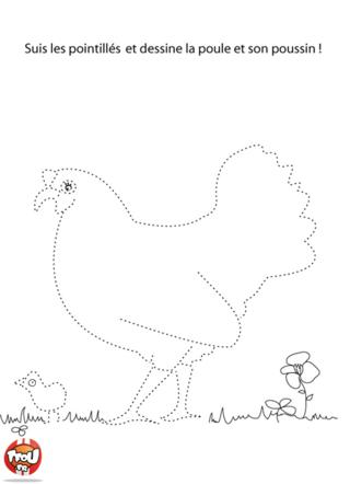 Coloriage: La poule