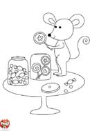 Souris aime les bonbons